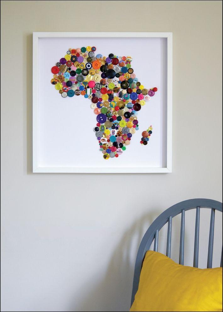 Wall Art Designs: Map Wall Art Handmade Map Of Africa Africa Wall Intended For Africa Map Wall Art (Image 15 of 20)