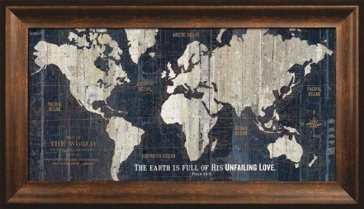 Wall Art Designs: Most Historical World Map Wall Art Framed In Framed Map Wall Art (View 7 of 20)