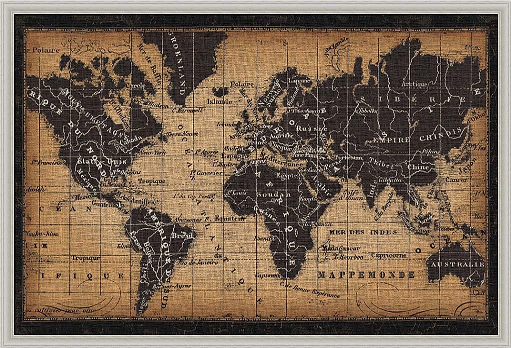 Wall Art Designs: Most Historical World Map Wall Art Framed With Regard To Framed Map Wall Art (View 2 of 20)
