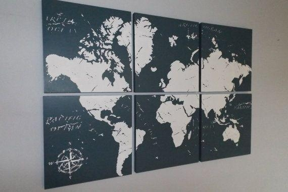 Wall Art Designs: Perfect Ideas Wall Art Maps Of The World Modern Throughout Map Wall Art Maps (Image 15 of 20)