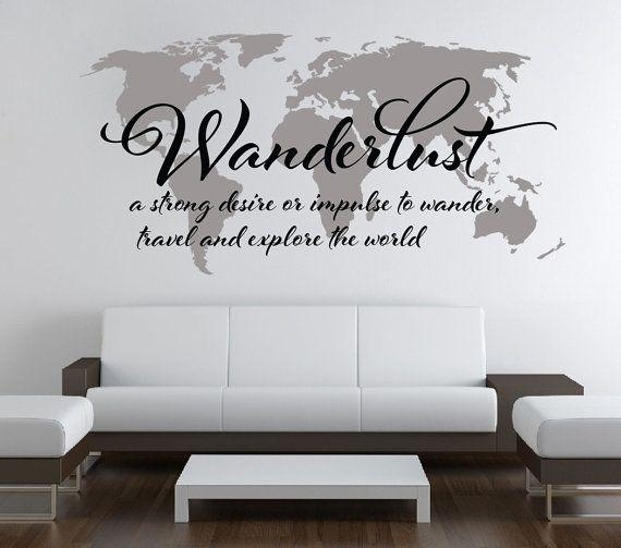 Wall Art Designs: Top Wall Art Map Of The World Vintage World Map Regarding World Map Wall Art Stickers (Image 13 of 20)