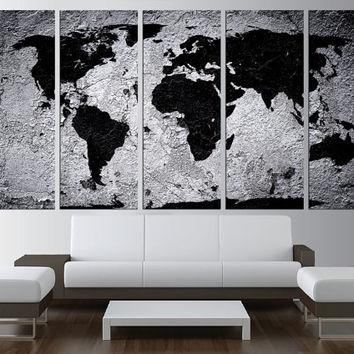 Wall Art Designs: World Map Wall Art Large World Map Canvas Print Throughout Large World Map Wall Art (Image 13 of 20)