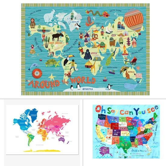 Wall Art For Kids Room 2017 – Grasscloth Wallpaper Pertaining To World Map Wall Art For Kids (Image 15 of 20)