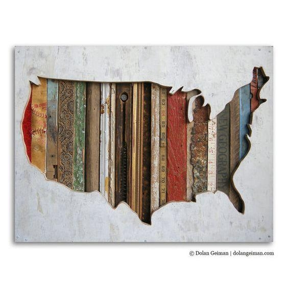 Wall Art: Top 10 Amazing Images Us Map Wall Art Maps Wall Art Within Usa Map Wall Art (Image 15 of 20)