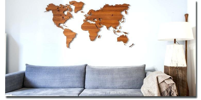Wall Art World Map World Map Wall Art Wooden Map Map With Pertaining To Wood Map Wall Art (Image 13 of 20)