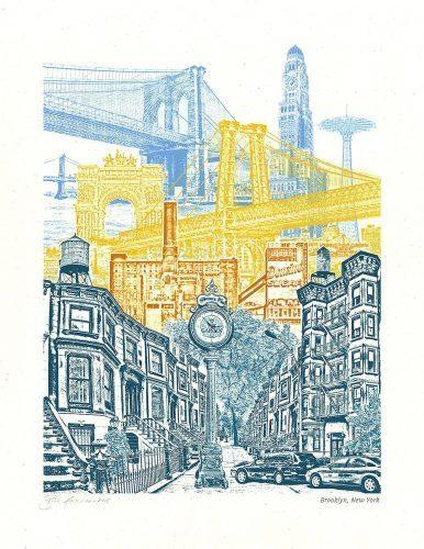 Wall Arts ~ Cool Brooklyn Map Wall Art Afflatus Brooklyn Bridge Throughout Brooklyn Map Wall Art (Image 17 of 20)