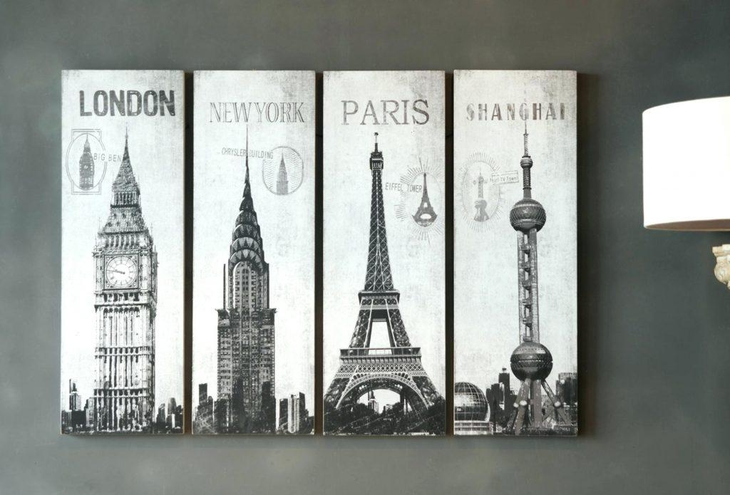 Wall Arts ~ Direct Related Pictures Wall Art London Paris Shanghai For Paris Map Wall Art (View 15 of 20)