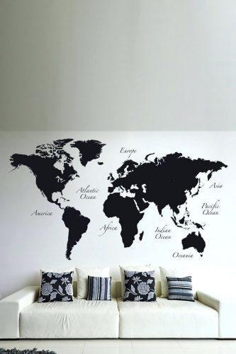 Wall Arts ~ Map Wall Art Etsy Wood Us And Canada Map Wall Art With Regard To Africa Map Wall Art (Image 18 of 20)