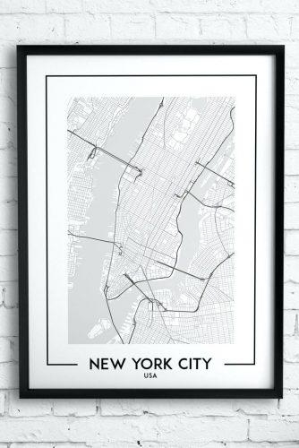 Wall Arts ~ New York City Wall Art Decals New York City Canvas Inside New York City Map Wall Art (View 9 of 20)