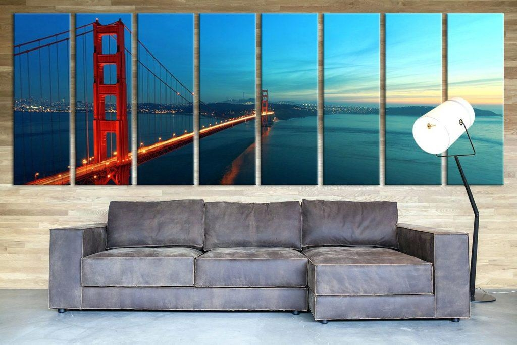 Wall Arts ~ San Francisco Skyline Drawing San Francisco Skyline In San Francisco Map Wall Art (Image 18 of 20)