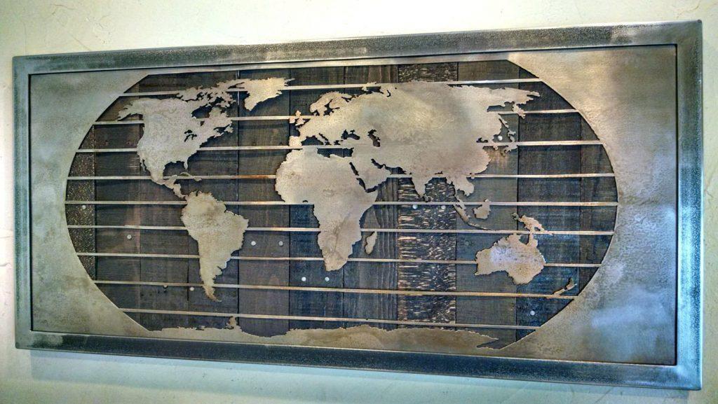 Wall Arts ~ World Map Wall Art Stickers Map Wall Art Uk World Map With Map Wall Art Canada (View 14 of 20)