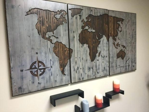 Wall Decor World Map Terrific Trendy Wall World Map Wood Wall Wood Within Wood Map Wall Art (View 16 of 20)
