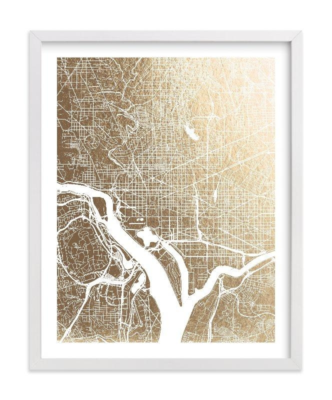 Featured Photo of Washington Dc Map Wall Art
