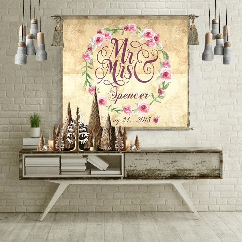 Wedding Gift Personalized Anniversary Gift Wall Art Wedding Sign Pertaining To Personalized Map Wall Art (View 14 of 20)