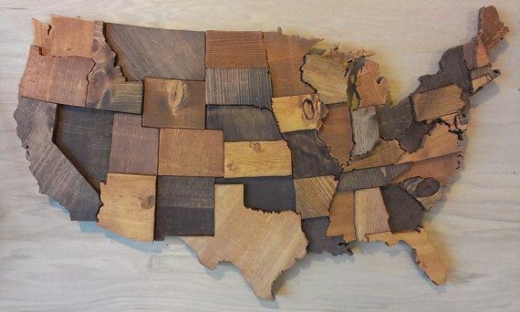 Wood Map Wall Art – Skulptura Art Inside Usa Map Wall Art (View 4 of 20)