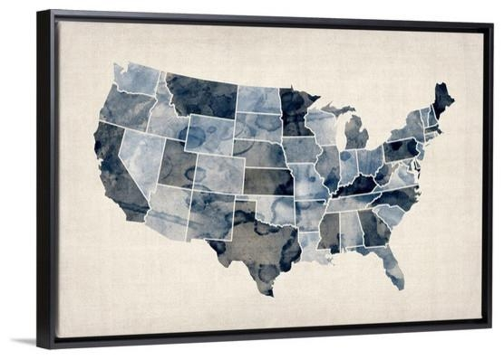 Wooden Usa Map Wall Art Black And White United States Map Wall Art With Usa Map Wall Art (Image 18 of 20)