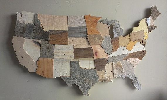 Wooden Usa Map Wall Art Delightful Ideas United States Wall Art In State Map Wall Art (Image 15 of 20)