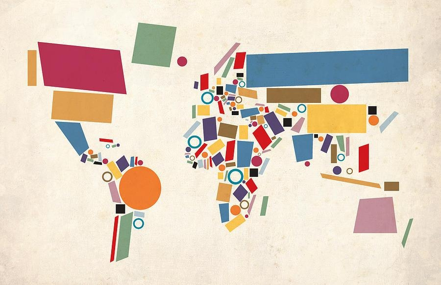 World Map Art | Fine Art America For Abstract World Map Wall Art (View 7 of 20)