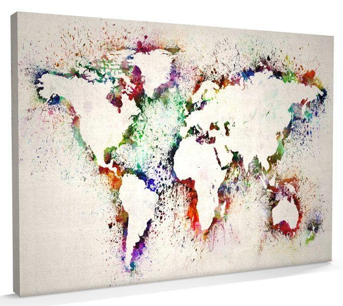 World Map Canvas Art Best 25 World Map Canvas Ideas On Pinterest Throughout World Map Wall Art Print (Image 16 of 20)