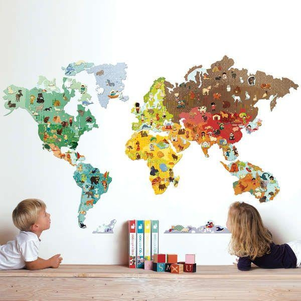 World Map Clipart Kids Room Pertaining To Kids World Map Wall Art (Image 18 of 20)