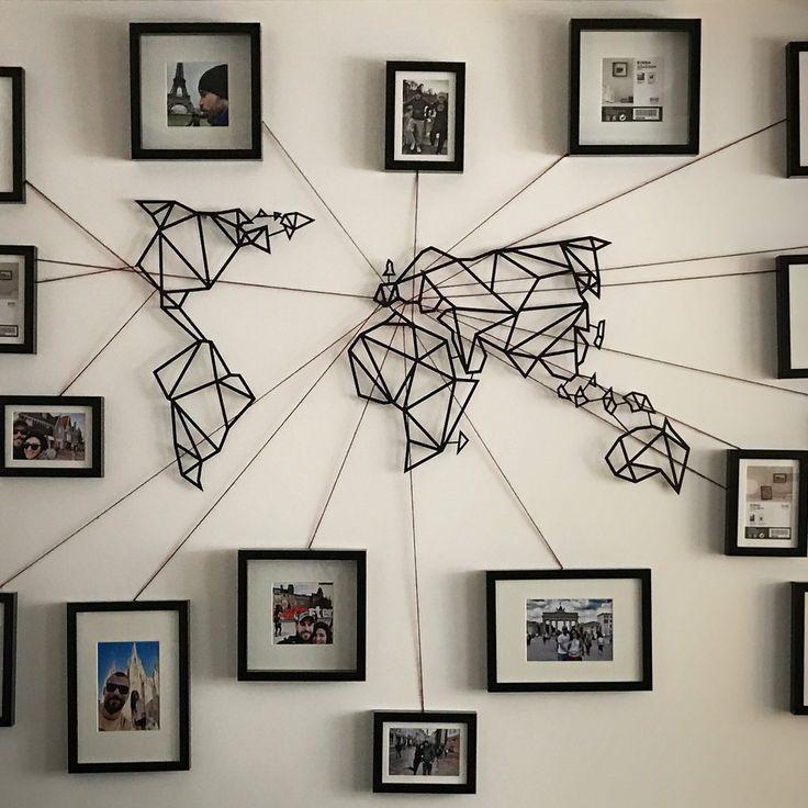 World Map Wall Art Best 25 World Map Wall Art Ideas On Pinterest With World Map Wall Art (Image 17 of 20)