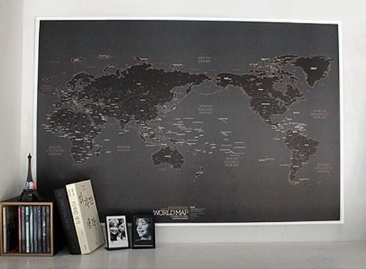 World Map Wall Art Framed Innovative Design Of Wall Map Art Wall Pertaining To World Map Wall Art (Image 18 of 20)