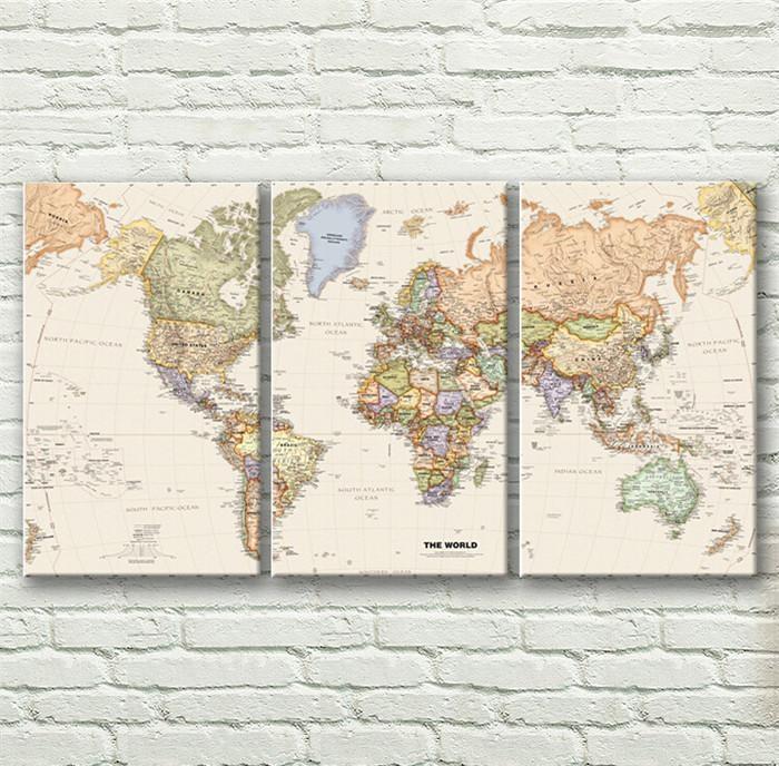 World Map Wall Art (Image 19 of 20)