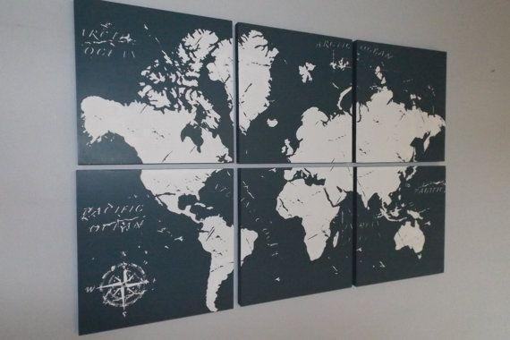 World Map Wall Art (Image 20 of 20)