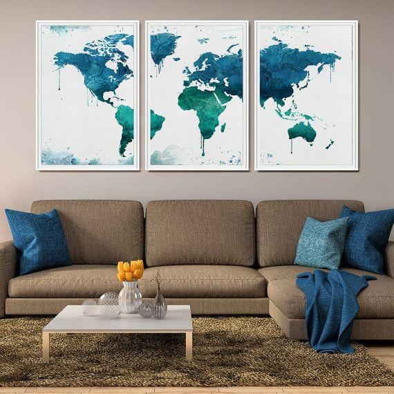 World Wall Art | Himalayantrexplorers Within Large Map Wall Art (Image 20 of 20)