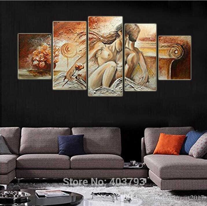 100% Hand Painted Bedroom Adornment Nude Body Wall Art Painting Intended For Abstract Body Wall Art (Image 1 of 20)