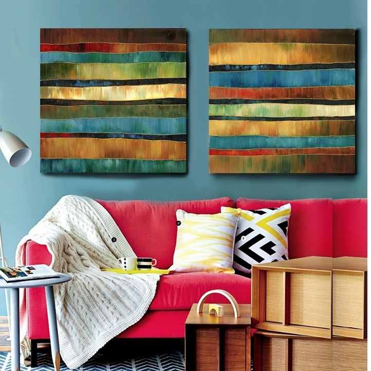 101 Best Pop Images On Pinterest | Cheap Art, Painted Canvas And With Abstract Fabric Wall Art (Image 1 of 15)
