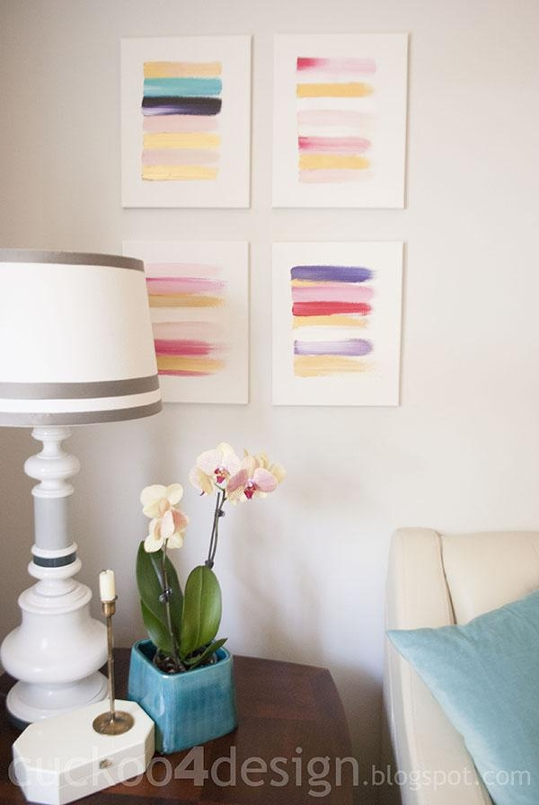 13 Creative Diy Abstract Wall Art Projects – Lolly Jane In Diy Abstract Wall Art (Image 1 of 20)