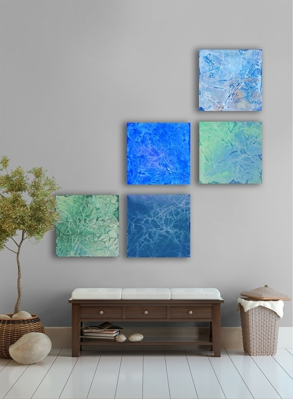 14 Best Tropical Wall Art For Cr Images On Pinterest | Palm Trees Inside Dark Blue Abstract Wall Art (View 15 of 15)