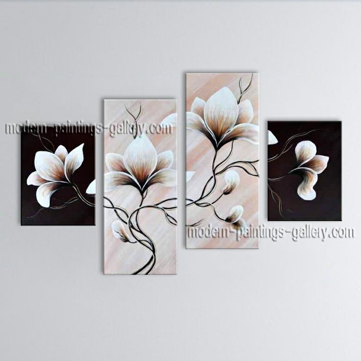 140 Best Original Abstract Paintings From Tian Yi Art Studio In Abstract Floral Canvas Wall Art (Image 1 of 15)