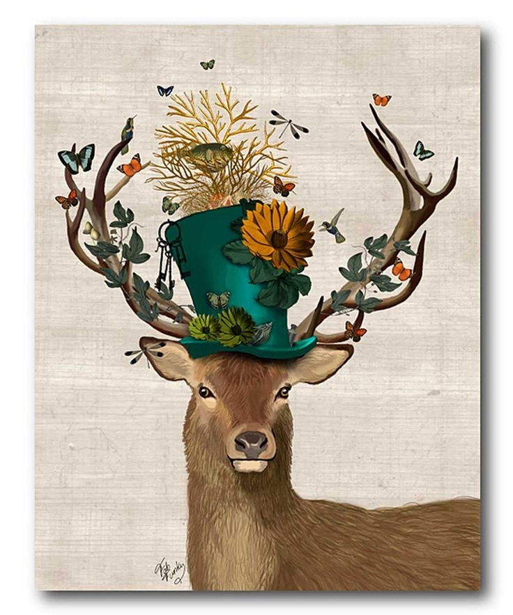 141 Best Ideas – Canvas/wall Art Images On Pinterest   Creative For Abstract Deer Wall Art (Image 1 of 15)
