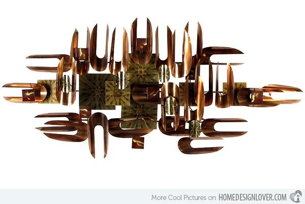 15 Modern And Contemporary Abstract Metal Wall Art Sculptures Inside Abstract Copper Wall Art (View 13 of 20)