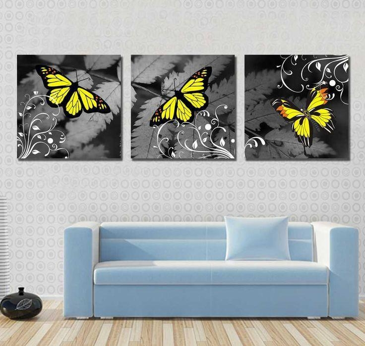 19 Best Tableaux Images On Pinterest | Butterflies, Abstract Art For Abstract Butterfly Wall Art (Image 3 of 20)