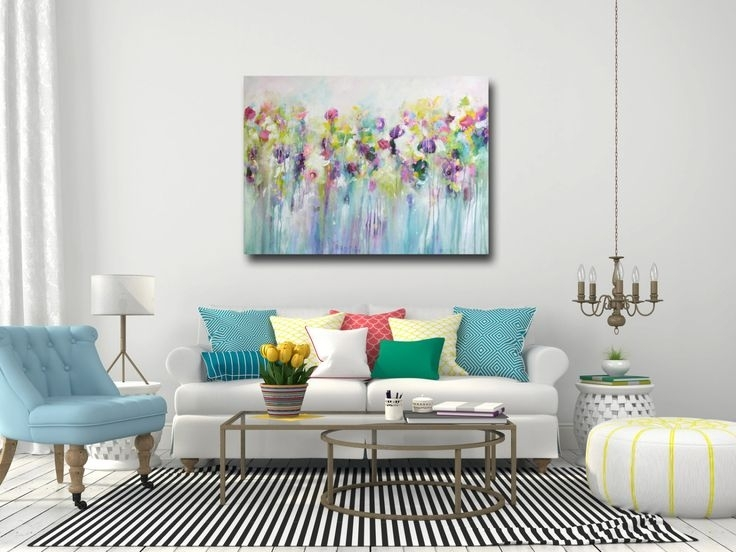 196 Best My Artwork Images On Pinterest | Abstract Canvas For Abstract Flower Wall Art (Image 1 of 15)