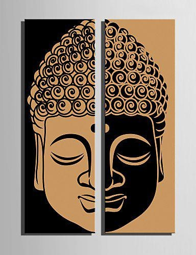 2017 New Limited Rectangle No Unframed Two Pieces Combinated With Regard To Abstract Buddha Wall Art (Image 1 of 20)