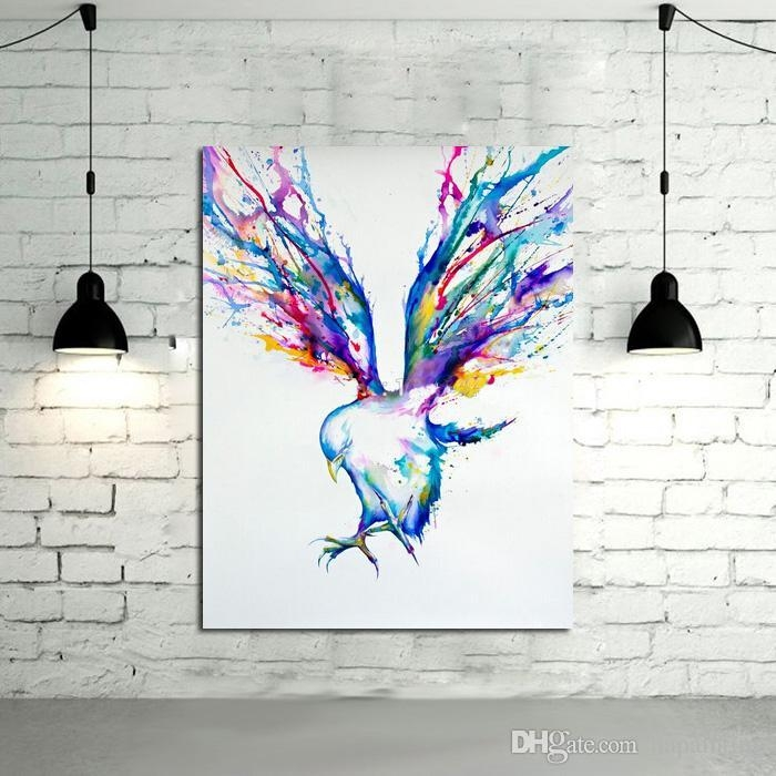 2018 Abstract Wall Art Handpainted Oil Painting Beautiful Flying Within Abstract Bird Wall Art (View 16 of 20)