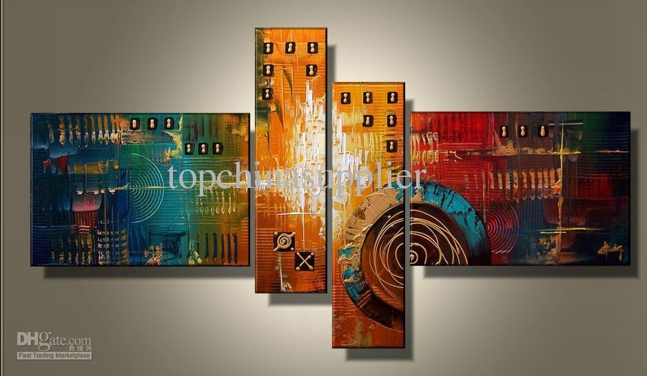 2018 Art Modern Abstract Oil Painting Museum Quality Painting In Framed Abstract Wall Art (Image 3 of 20)