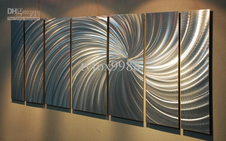 2018 Metal Modern Abstract Wall Art Painting Sculpture Decor From For Aluminum Abstract Wall Art (Image 3 of 20)