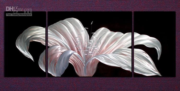2018 Metal Wall Art Abstract Modern Sculpture Painting Handmade 3 intended for Abstract Flower Metal Wall Art