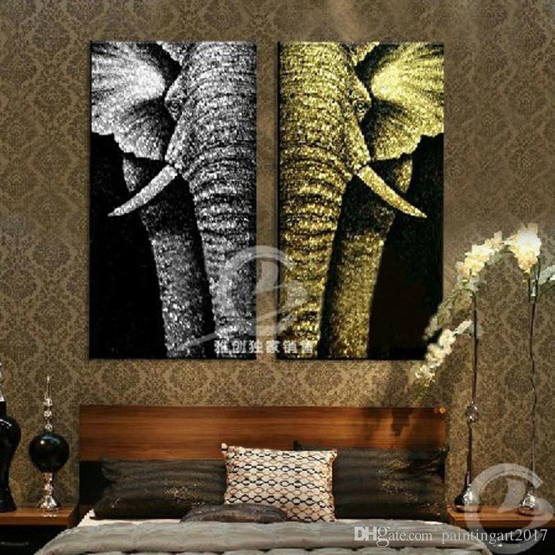 2018 Modern Abstract Fashion Oil Painting On Canvas For Home With Abstract Elephant Wall Art (Image 2 of 15)