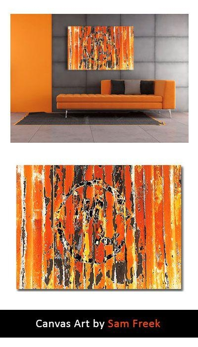 23 Best Orange Canvas Wall Art Images On Pinterest | Canvas Art Pertaining To Limited Edition Canvas Wall Art (View 16 of 20)