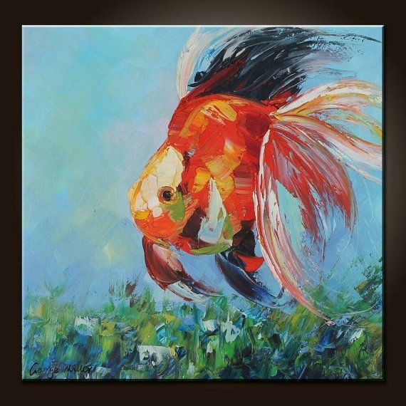 28 Best Wall Art Images On Pinterest | Abstract Art Paintings For Abstract Fish Wall Art (View 3 of 15)