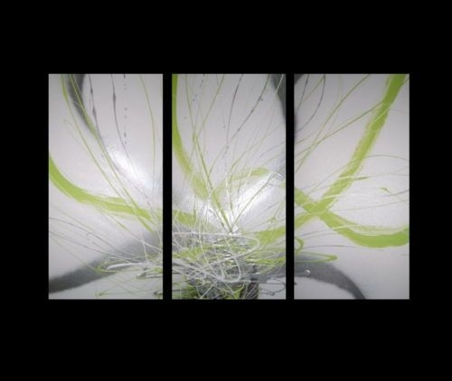 28 Best Wall Painting Images On Pinterest | Abstract Canvas Inside Green Abstract Wall Art (View 6 of 15)