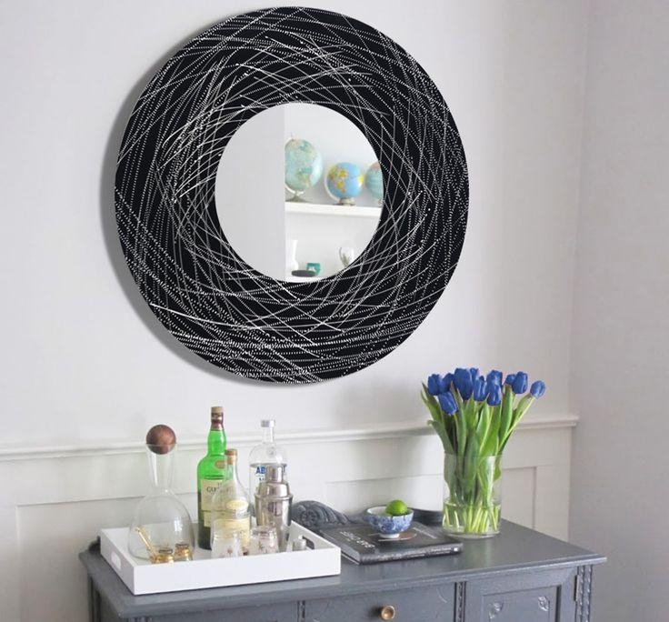 31 Best M O D E R N – M I R R O R S Images On Pinterest | Modern Regarding Circle Bubble Wave Shaped Metal Abstract Wall Art (Image 2 of 20)