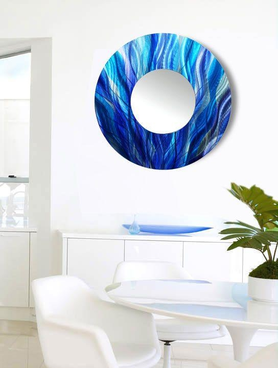31 Best M O D E R N – M I R R O R S Images On Pinterest | Modern Throughout Circle Bubble Wave Shaped Metal Abstract Wall Art (Image 3 of 20)