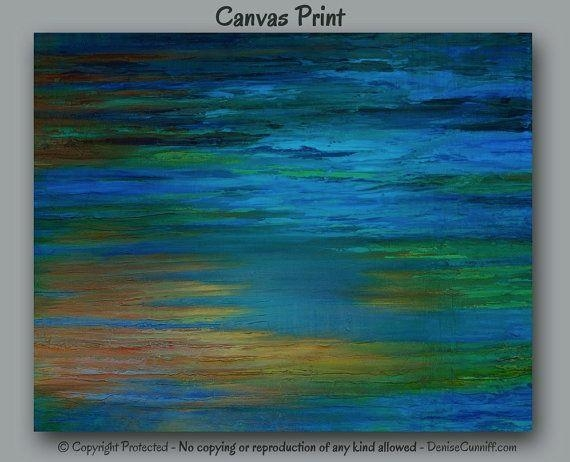 321 Best Art & Paintings - Abstract Art Images On Pinterest for Blue Green Abstract Wall Art
